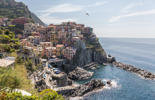 The second village we visited: Manarola, so pretty!