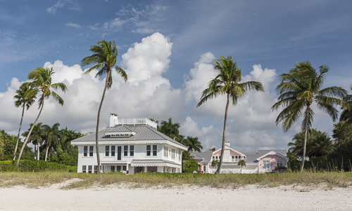 Mansions on Naples City Beach - must be such a nice place to live!