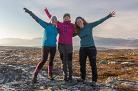 At the end of a very successful trip we had to get this photo of the 3 of us: Jennifer, Signe and me