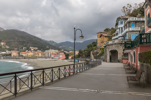 Levanto waterfront promenade