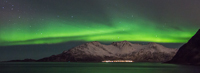 Northern lights over Vengsøya, seen from Grøtfjord