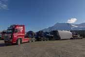 Quite an impressive lorry arrangement to transport the turbines
