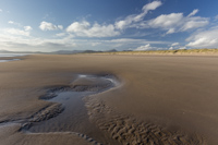 The wide beach at Harlech