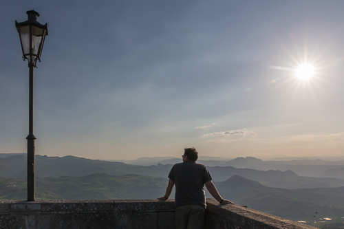 Admiring the views from San Marino