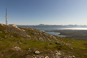 Leaving Rundfjellet, the first top
