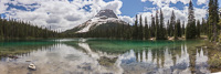 Panorama of Yoho Lake and Wapta Mountain