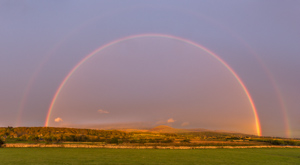 In the evening we were treated to another double rainbow!