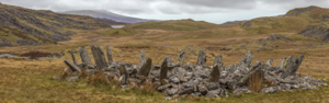The impressive cairn circle of Bryn Cader Faner, more than 3000 years old