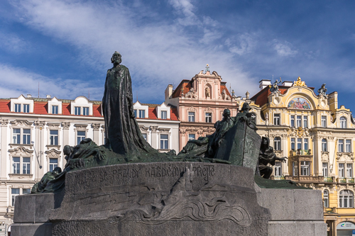 The Jan Hus Memorial on the Old Town Square