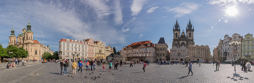 Panorama of the Old Town Square