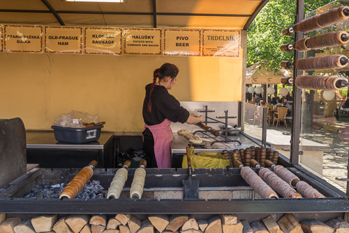 Typical street food in Prague: Trdelník