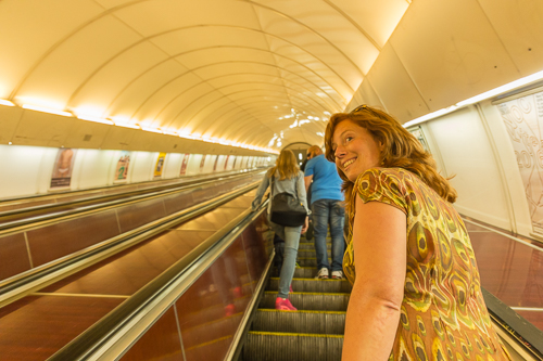 Taking the long escalator