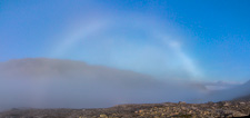 A fog bow! I'd never seen one before so I was very excited. Tromsdalstinden is just visible on the right
