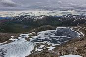 Tverrfjellvatnet, still partly frozen