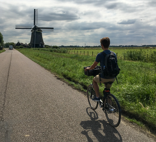 The first windmill of the day, on the way out of Uitgeest
