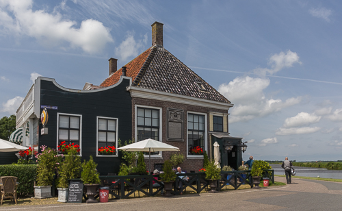 Nice old cafe next to the ferry at Spijkerboor