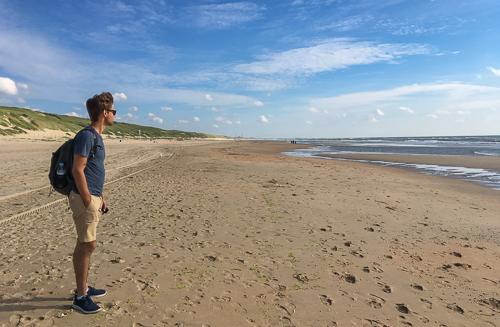 Jakob on the beach
