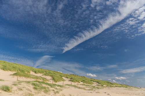 The beach, dunes and a very pretty sky at Castricum