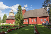 The wooden church in Utajärvi