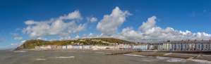 Panorama of the sea front at Aberystwyth - a very pretty town!