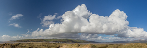 Clouds and dunes at Ynyslas Nature Reserve