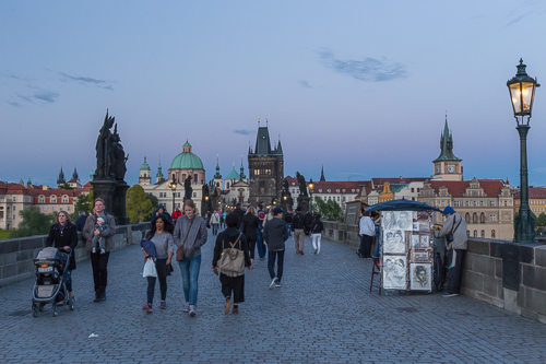 Evening on the Charles Bridge