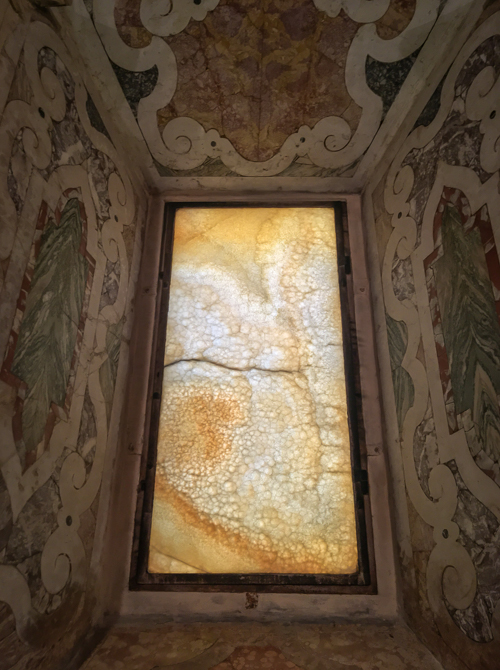 Windows made of stone in the impressive but slightly strange Modena Cathedral!