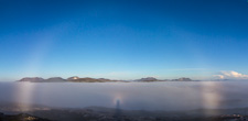 And everything in one photo: the fogbow, the glory (and Brocken spectre) and the cumulonimbus