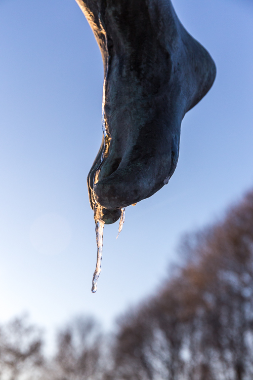 Frozen toes both for me and this sculpture ;)