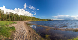The shore of Oulajärvi, or Lake Oulu