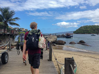Walking to our boat at Conceição de Jacare