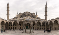 The Blue Mosque, or Sultan Ahmed Mosque. We never got to see why it was called Blue, as it was closed until 14:00
