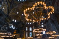 I loved the lights inside Haga Sophia