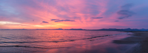 A not-entirely-sharp panorama of the sunset - it was spectacular!
