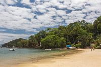 The beach at Vila Abraão