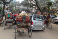 Traffic in Dhaka: complete chaos