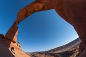 With the fisheye lens, the whole arch fits in one photo