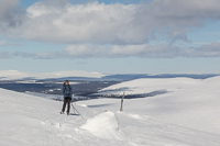 This photo shows very well what the landscape was like: the hills are bare on top, with forest lower down - great views!
