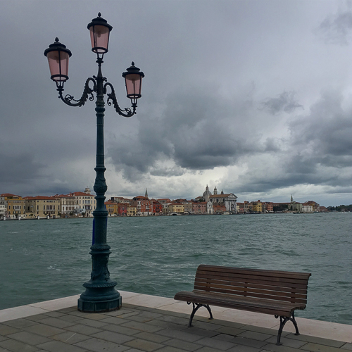 Dramatic views towards the main island of Venice