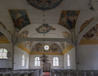 This old church is famous for the paintings on the walls and ceilings, and also called a pictorial church. Impressive!