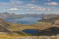 View from Brosmetinden towards Tromvik