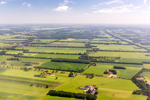 Dutch landscapes where Overrijsel, Drenthe and Friesland meet