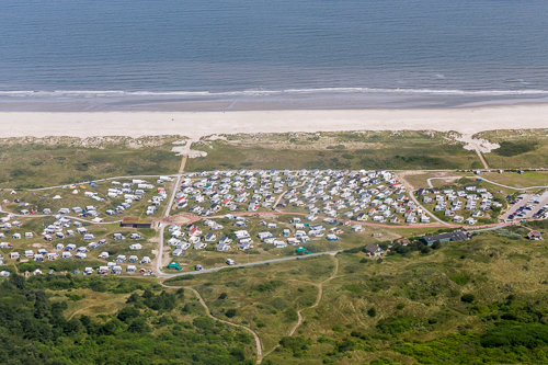 Crazy amount of caravans on Ameland...