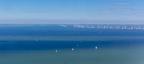 Sailing boats on the IJsselmeer, love the different colours in the water