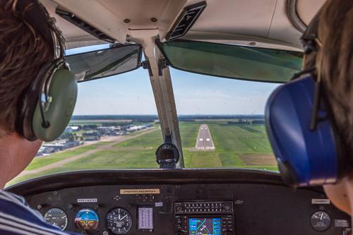In for landing!