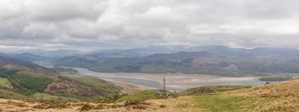 Panorama overlooking the river estuary at Barmouth