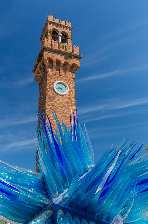 The Bell Tower and glass art on Murano