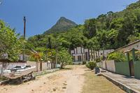 Typical sandy street in Vila Abraã