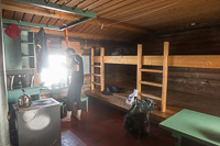 Inside Sioskuru Open Wilderness Hut
