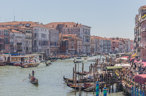 View in the other direction from Rialto Bridge